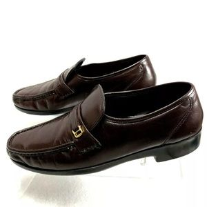 Florsheim Men's Riva Brown Leather Loafers Sz 9.5C